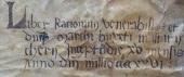 Il titolo del volume nella coperta pergamenacea