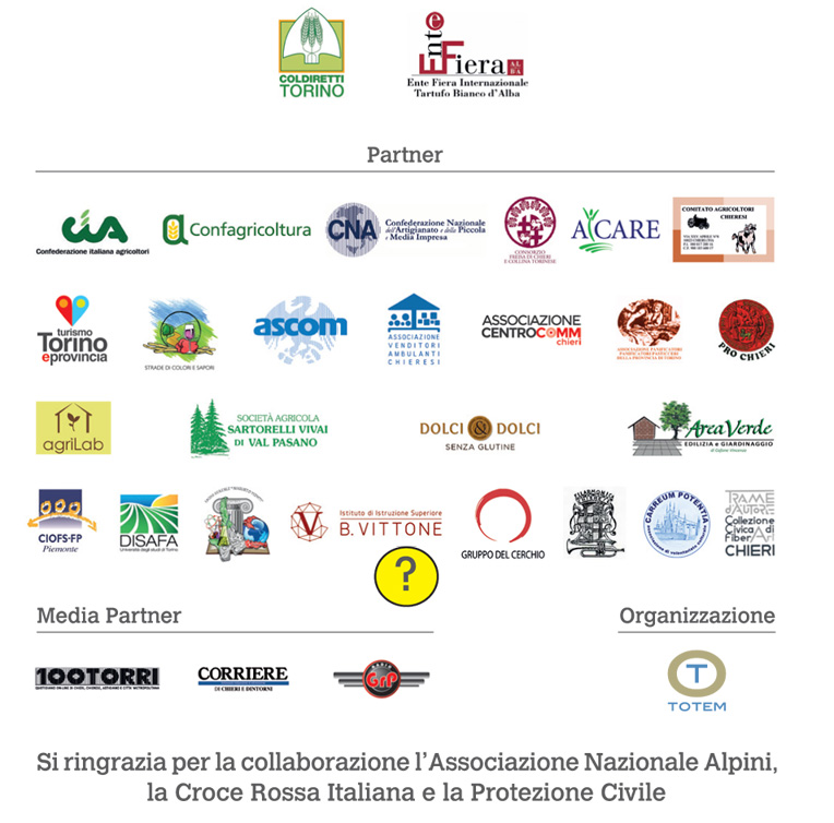 Tutti i loghi dei partners ch ehanno partecipato alla 38 edizione della fiera di San Martino 2016