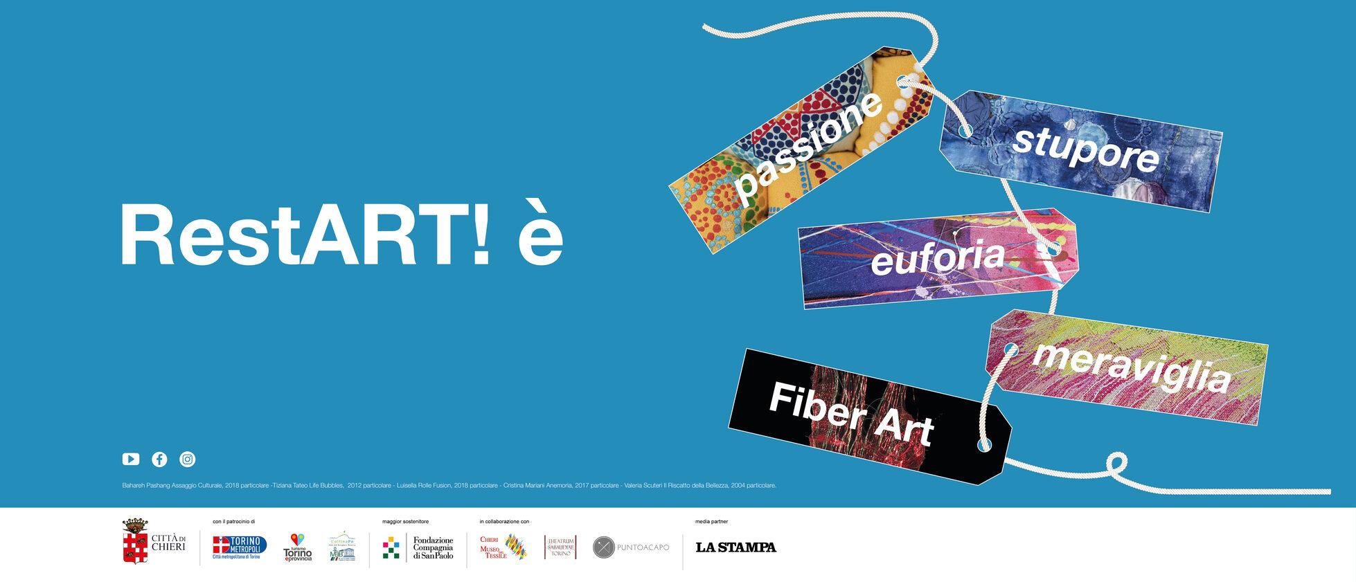 Banner RestArt è passione, stupore, euforia, meraviglia, fiber art