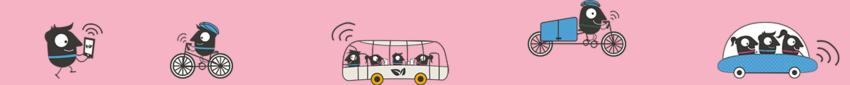 banner con esempi di mobilità condivisa